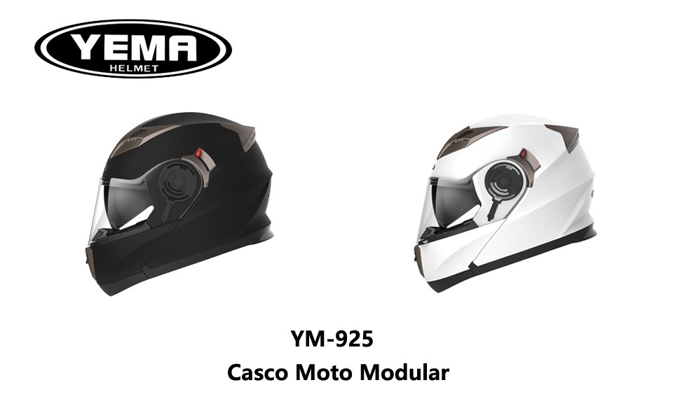 casco modular moto yema